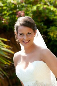 Happy bride at Foxhills Surrey