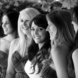 bw bride and bridesmaids